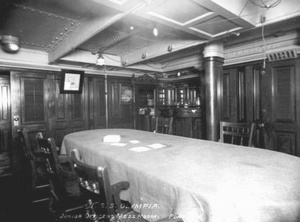 OLYMPIA- Junior and Warrant Officer's Wardroom Mess.