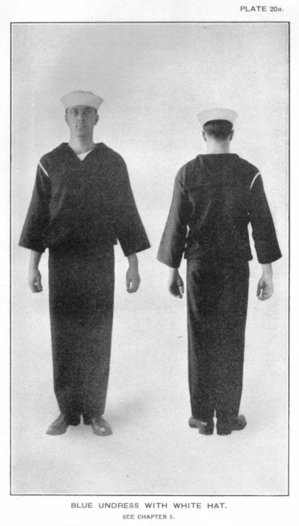 Blue Undress, from 1917 USN Uniform Regulations