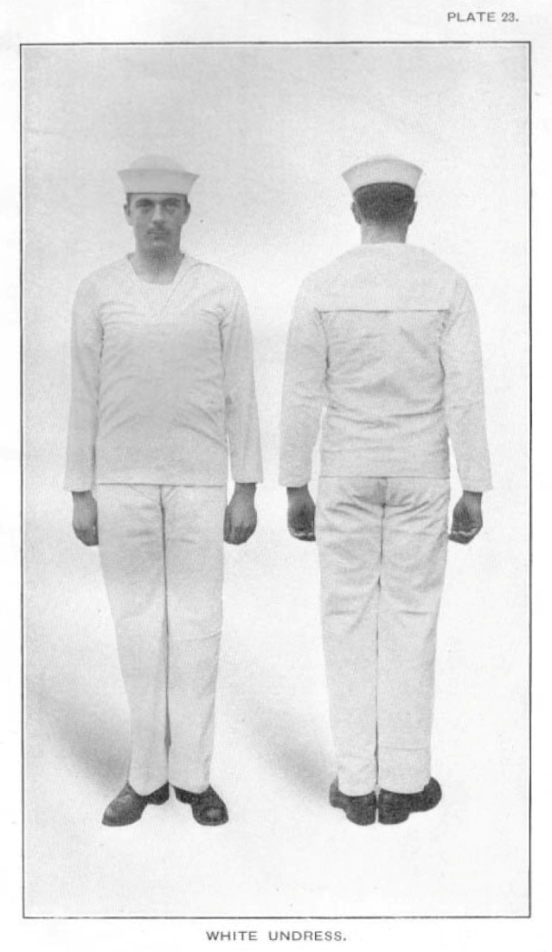White Undress, from 1917 USN Uniform Regulations